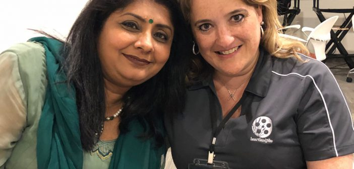 From left, Heartland supporter and fan Rupal Thanawala (Carmel) with Heartland Executive Assistant Kelly Alexiou (Fishers) take time to pose for Where's Amy.