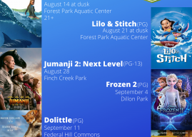 Movies in the Park schedule set