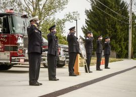 Snapshot: CFD pays respects to IFD firefighter
