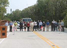 Boone County, Zionsville officials celebrate bridge reopening