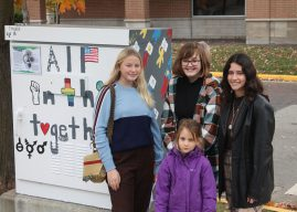 Zionsville students paint traffic control box to support social justice causes