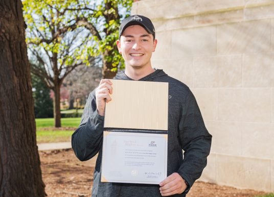Carmel lifeguard honored by Purdue for saving life of co-worker