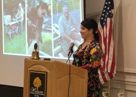 State's first lady shares tales of pranking governor, family dog's fame