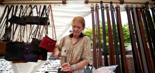 A vendor works on her art at her CarmelFest booth. (Submitted photo)