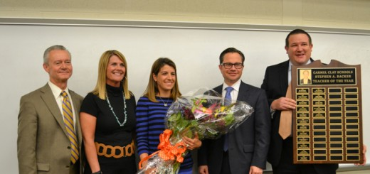 From left: Roger McMichel, Jill Schipp (principal), Sarah Awe, Nick Wahl, Ryan Newman. (Submitted photo)