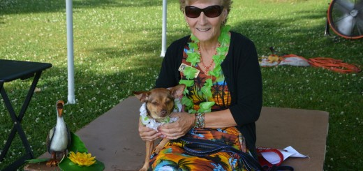 Executive Director Terry Moore with her dog Lilly, who is the mascot for the event. Moore is the ambassador for the foster pet program. (Submitted photo)
