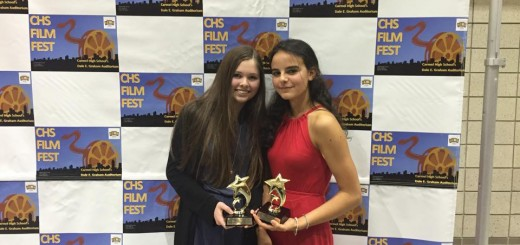 Clara Martiny and Daphne Hulse after winning their award. (Submitted photo)