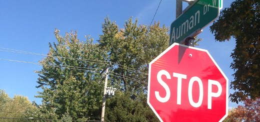 126th Street and Auman Drive Stop Sign