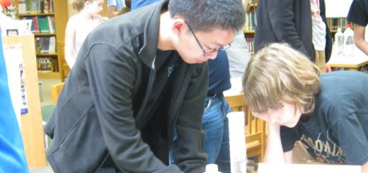 Miles Dai works on a chemistry project at Chemistry Club at Carmel High School. (Submitted photo)