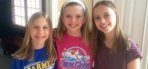These are Cherry Tree Elementary fifth graders who are raising money for Will's Way and are among the 30 runners doing the 1-mile run in Carmel Marathon. Picture from left to right are Emma Marsella, Julia Fisher, and Ellie Marsella.