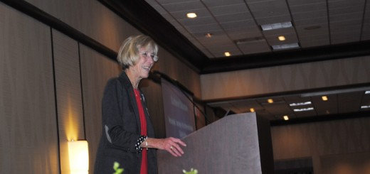Dr. Sarah Johnson speaks at the 11th annual Women of Vision luncheon. (Photo by Mark Ambrogi)