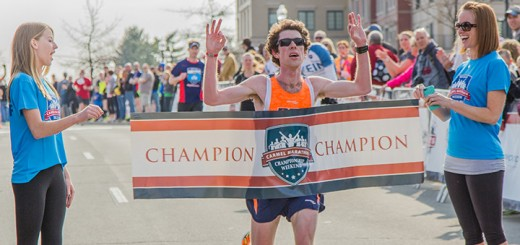 Jesse Davis wins the 2014 Carmel Marathon. (Submitted photo)