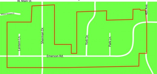 This map shows where the over- lay designation would sit in the Johnson Addition neighborhood.