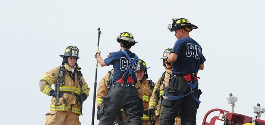 Firemen training in Hamilton County. (Photo by Robert Herrington)