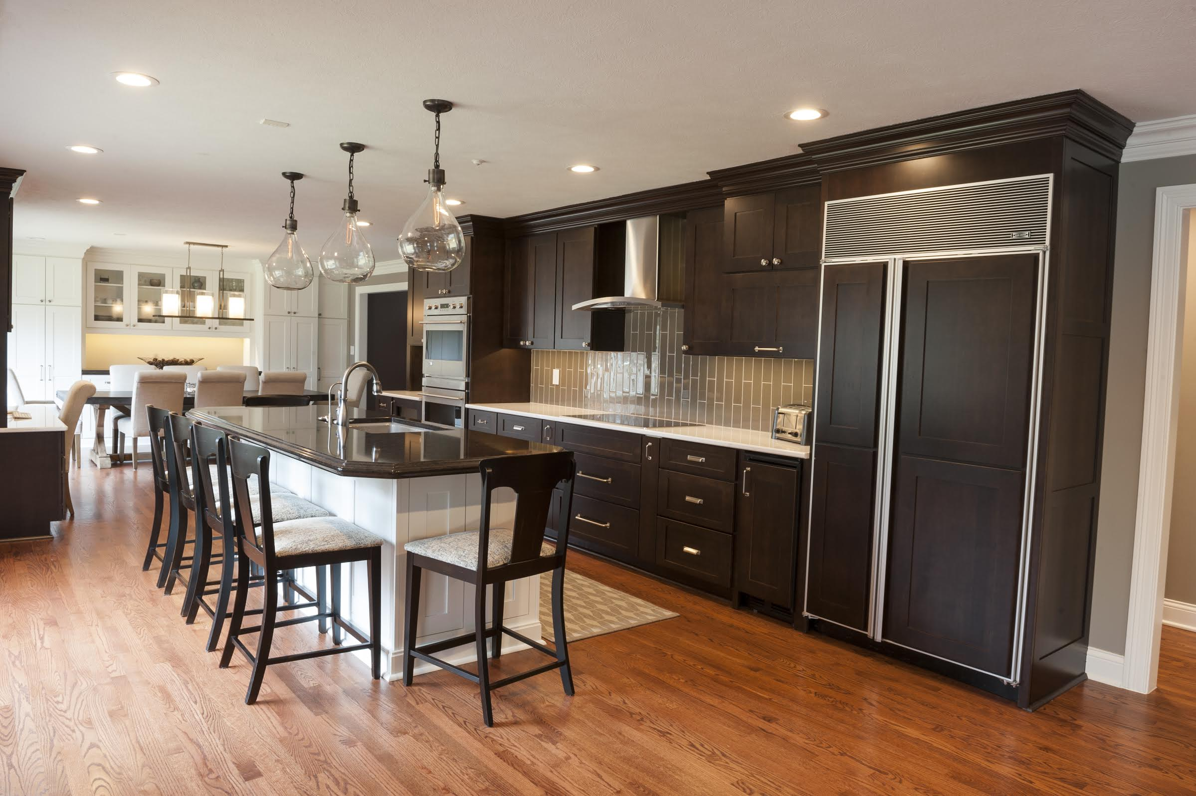 Column Creating An Open Contemporary Concept Kitchen Current - Kitchen-and-dining-designs-concept