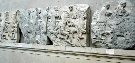Section of Parthenon Frieze in the British Museum. (Photo by Don Knebel)