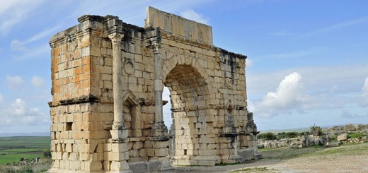 Restored Arch of Emperor Caracalla in Volubilis, Morocco (Photo by Don Knebel)