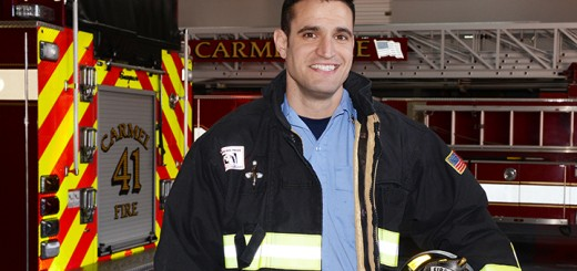 Tim Griffin is a Carmel firefighter also involved in fitness and TV. (Photo by Theresa Skutt)