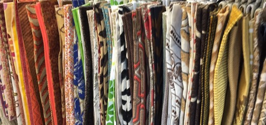 $5 discontinued fabric samples and markdowns on floor models.