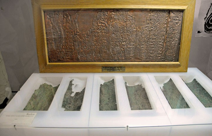 Portion of Copper Scroll at Jordan Archaeological Museum (Photo by Don Knebel)