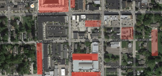 A map of the downtown Carmel area where businesses can use parking permits. (Submitted map)