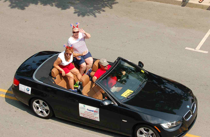 Dottie Hancock and Blondin in the CarmelFest parade. (Submitted photo)