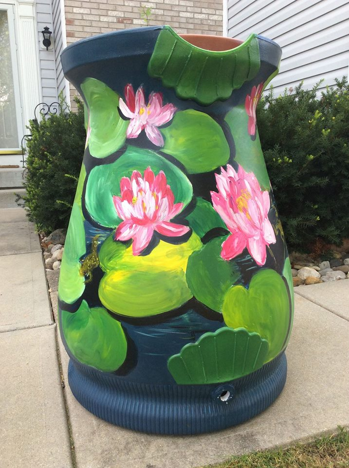 The Gallery Walk event on Aug. 8 will include a silent auction for decorated rain barrels. (Submitted photo)